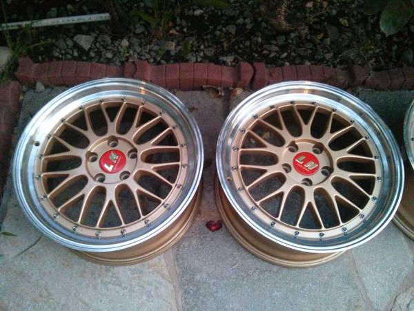 18 Quot Bbs Lm Gold Machined Lip Replica