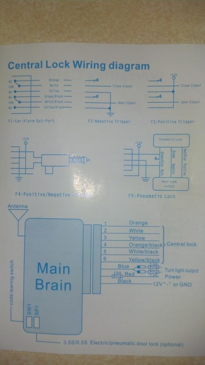 Need Help Reading Wiring Diagram Remote Entry Install On 13 Base 6mt Central Locking Kit 2013