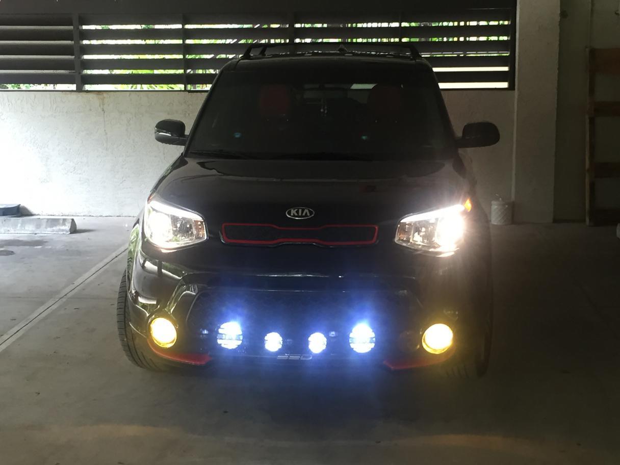 Install Of Led Driving Spot Lights Nissan Navara Np300 D23 ...
