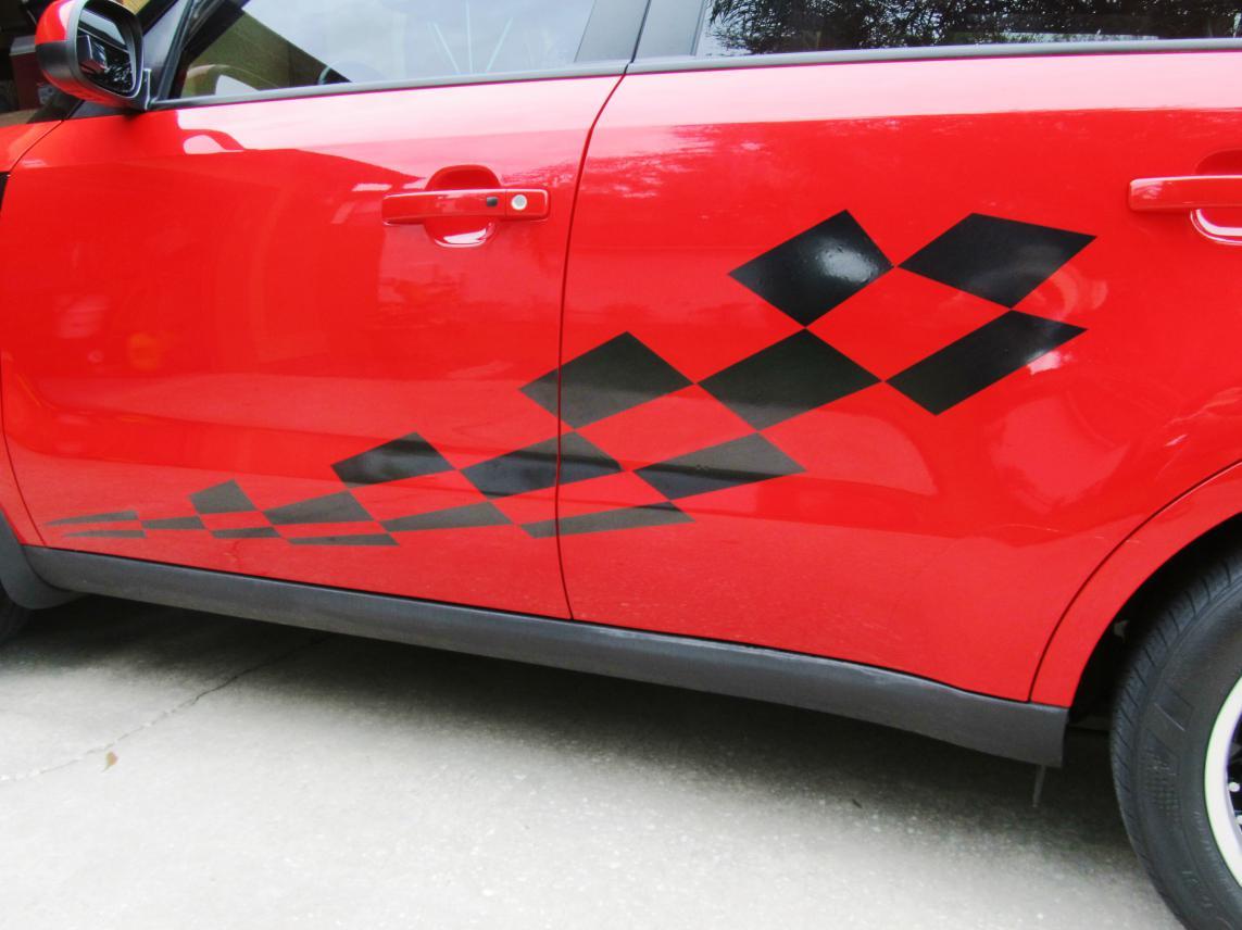 checkered flag vinyl door decals side decal 04 jpg